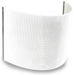 curved LumiSheet Flex LED light panel on white