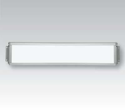 LED light channel front view on grey