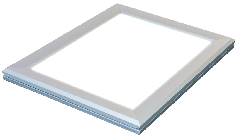 Lumi Light Box # 13 slim LED light box, silver frame