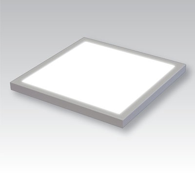 square LumiFixt LED light fixture, on grey