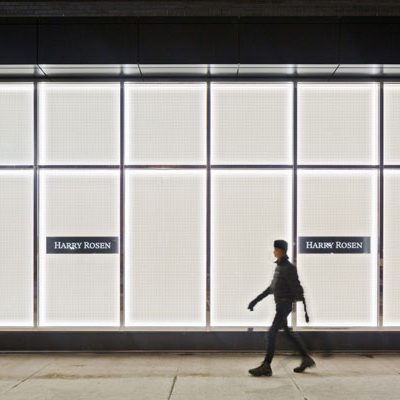 LumiSheet LED Light Panel Used In A Lit Store Window