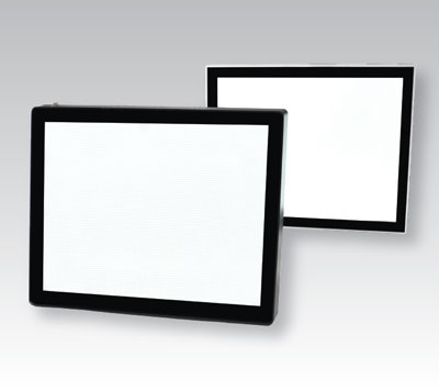 Lumi Light Box #26 magnetic light box frame options, on grey