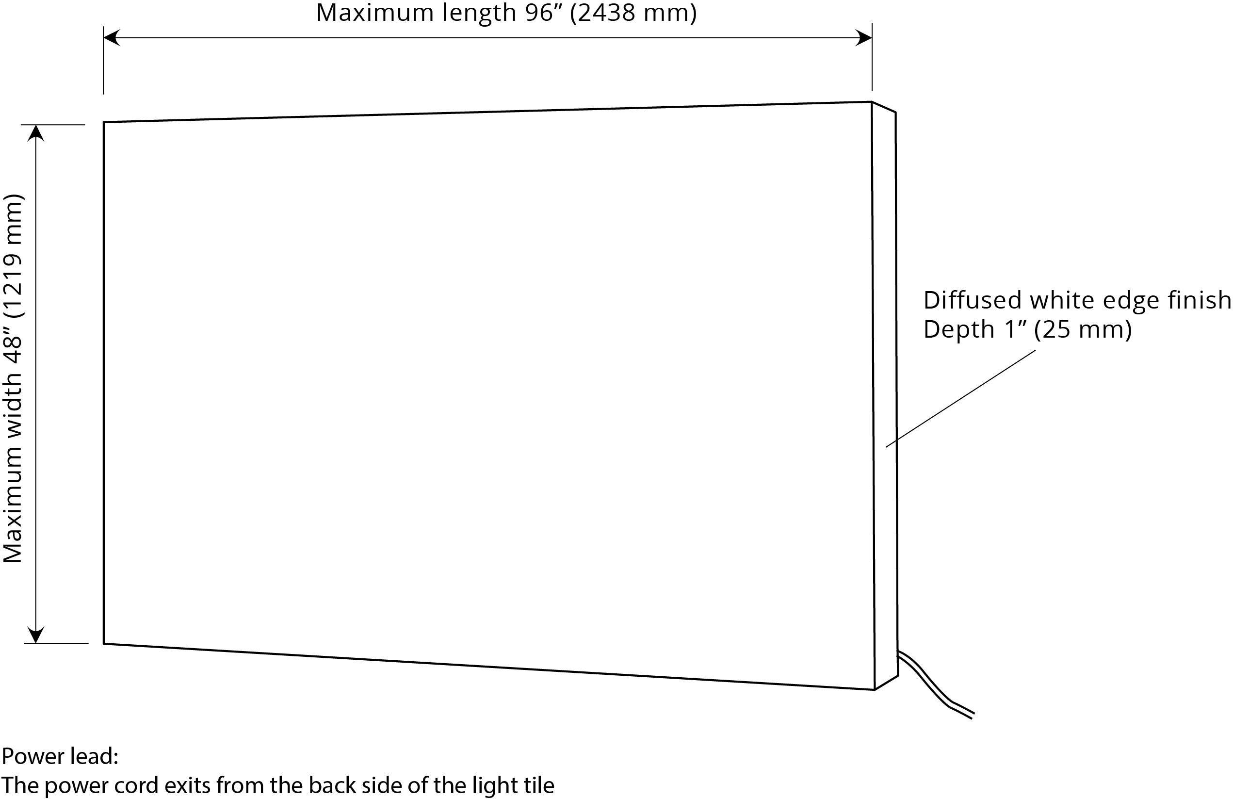 LumiFrost LED light panel dimensions