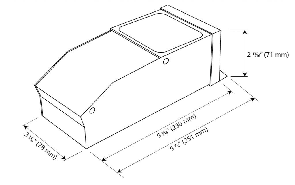 Dimming Option M 150W Dimensions
