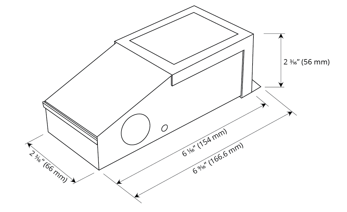 Dimming Option M 60W Dimensions