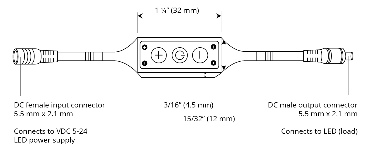 Dimmer Inline With No Remote