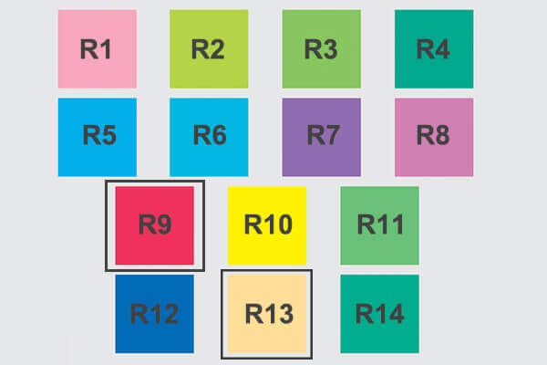 R9 and R13 Values